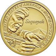 1 доллар 2017 год   Секвойя - изобретатель слоговой азбуки
