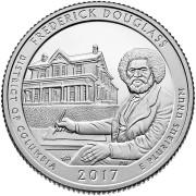 """25 центов 2017 год 37-й Национальный парк """"Фредерик Дуглас (Frederick Douglass)"""""""