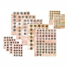 Комплект разделителей для монет регулярного  выпуска монет 1961-1991 г.г  (7 штук)