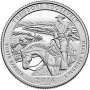 25 центов 34й  Национальный парк Теодор-Рузвельт 2016 год