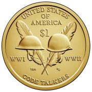 1 доллар 2016 год   Радисты-шифровальщики Первой и Второй мировых войн