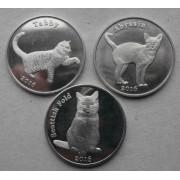 """Набор монет 1 фунт  острова Строма """"Кошки"""""""