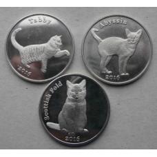 """Набор монет  острова Строма """"Кошки"""""""
