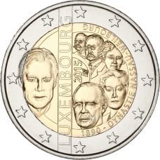 2 евро 2015 г  Династия Нассау-Вайльбург (Люксембург)