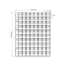 Вертикальный лист для монет 80 ячеек