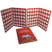 Альбом-планшет  для десятирублёвых биметаллических монет 120 ячеек  (без разделения по дворам)