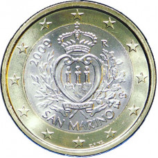 1 евро 2009 г  Сан-Марино