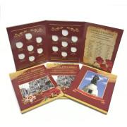 Альбом планшет Города-Столицы освобождённые советскими войсками от немецко-фашистских захватчиков  (на 14 монет)