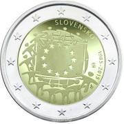 2 евро 2015 г   30 лет Европейскому Флагу (Словакия)
