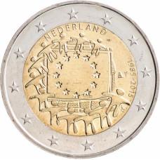 2 евро 2015 г   30 лет Европейскому Флагу (Нидерланды)