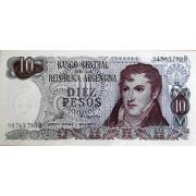 10 песо 1973-76 год . Аргентина