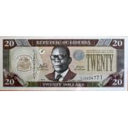 20 долларов 2011г Либерия