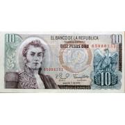 10 песо 1979 год . Колумбия