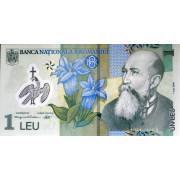 1 лей 2005г (пластик) Румыния