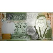 1 динар 2011г  Иордания