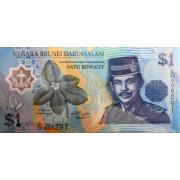 1 доллар 1996г (пластик) Бруней