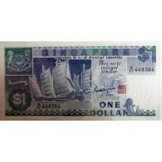 1 доллар 1987г  Сингапур