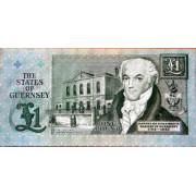 1 фунт  1991 год . Гернси