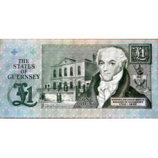 1 фунт  1991г Гернси