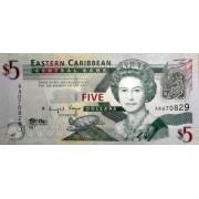 5 долларов.  Восточные Карибы