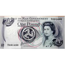 1 фунт 1983г Остров Мен