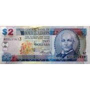 2  доллара 2007 год . Барбадос