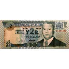 2 доллара 2000 год .  Фиджи