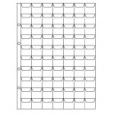 Вертикальный лист для монет 70 ячеек