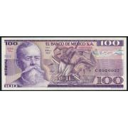100 песо 1982 год . Мексика