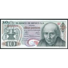 10 песо 1977  год . Мексика