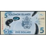 5 долларов 2019 год . Соломоновы острова (полимерная)
