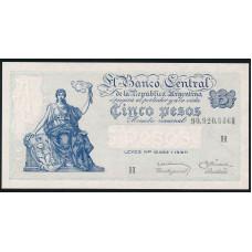 5 песо 1951 год . Аргентина . XF
