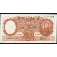 100 песо 1967 год . Аргентина . VF