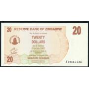 20 долларов 2006 год . Зимбабве