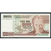 100000 лир 1970 (1996) год .Турция