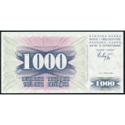 1000  динар 1992 год . Босния и Герцеговина