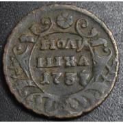 полушка 1737 год