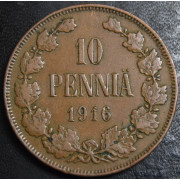 10 пенни 1916 год