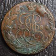 5 копеек 1784 год ЕМ
