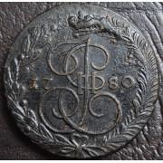5 копеек 1780 год ЕМ