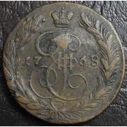 5 копеек 1768 год ЕМ