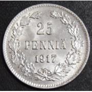 """25 пенни 1917 год """" с коронами"""""""