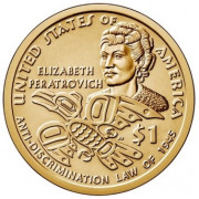1 доллар 2020 год   Сакагавея - Элизабет Ператрович