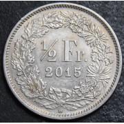 1/2 франка 2015 год , Швейцария