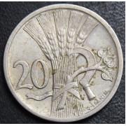 20 геллеров 1924 год ,Чехословакия