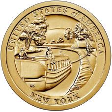 1 доллар 2021 год , Американские инновации - Эри-канал ,Нью-Йорк