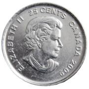 """25 центов 2009 год , Канада """" Женский хоккей"""""""