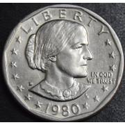 1 доллар 1980 год .  Сьюзен Энтони