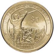 1 доллар 2015 год   Могавки- строители