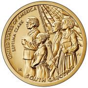 1 доллар 2020 год . Американские инновации - Септима Кларк  (Южная Каролина)